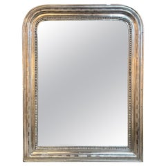 19th Century French Silver Leaf Louis Philippe Mirror