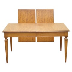 Vintage Beacon Hill Italian Regency Style Walnut Dining Table with Two Leaves