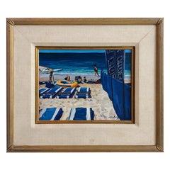 Vintage Michael Jacques Original Illustration Oil on Board