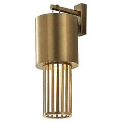 Contemporary Modern Italian Design Futurist Tubular Brass Sconce