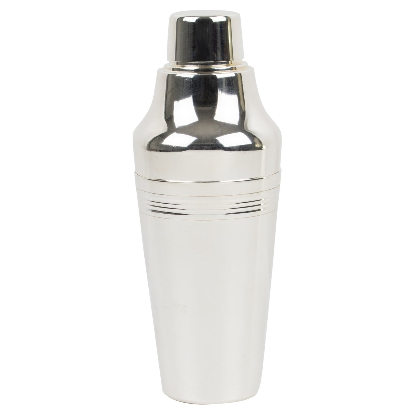French Art Deco Silver Plate Cocktail Shaker