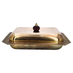 Hollywood Regency Italian Brass Covered Casserole by PM Italy