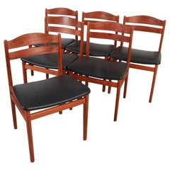 Set of 6 Teak Dining Chairs by Niels Vodder
