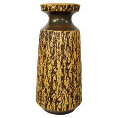 Tall Wabi-Sabi Organic Pattern Ceramic Floor Vase by Jasba, West Germany, 1960s