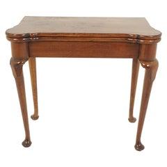 Antique Georgian Mahogany Fold Over Tea Table, Scotland 1810, B2721