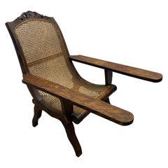 19th Century English Colonial Teak Plantation Chair