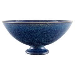 Sven Wejsfelt, Gustavsberg Studiohand, Bowl on a Base in Ceramics
