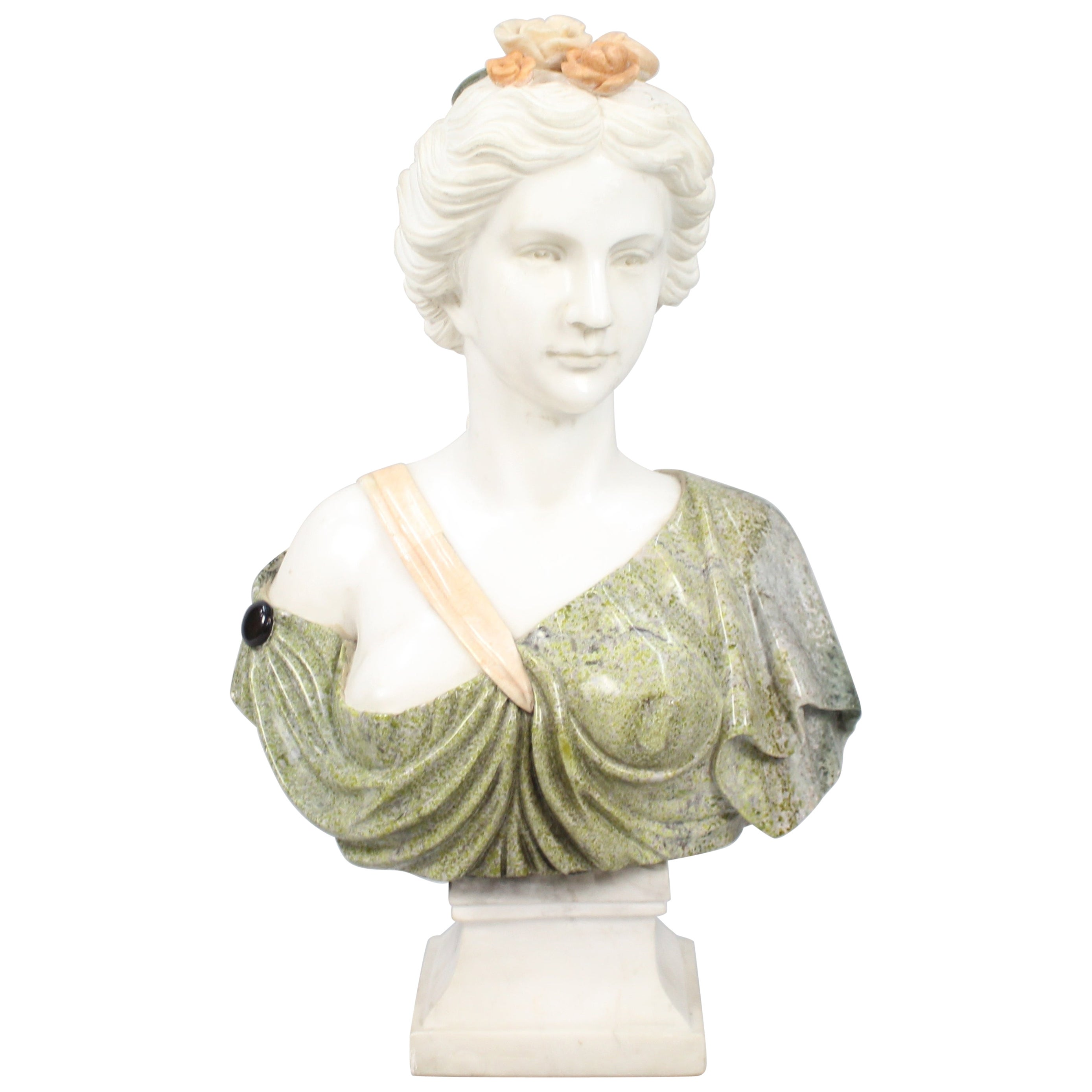 Classical Style Marble Bust of Lady