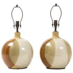 David Cressy Style Stoneware Lamps