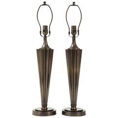 Machine Age Bronze Lamps