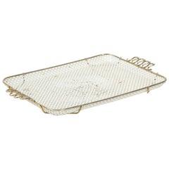 Mathieu Mategot Perforated White Metal Tray