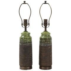 Swedish Modern Ceramic Lamps, Tilgmans Keramik