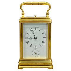 Strike Repeat Alarm Carriage Clock by Drocourt for E. White