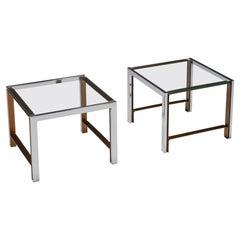 Regency Glass Top Side Table Mid Century