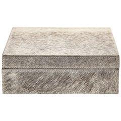 Grey, White Brindle Ponyskin Keepsake Box