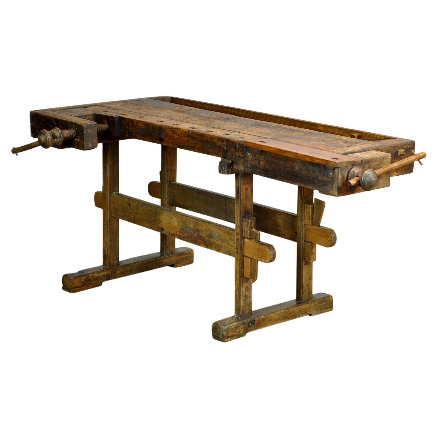 Antique Oak Carpenters Workbench, Circa 1910