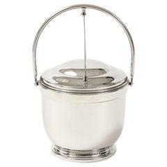 Art Deco Nickel Ice Bucket