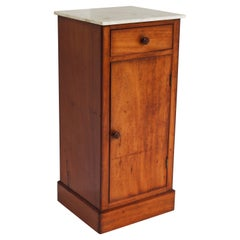 Lovely French Antique 19th Century Night Stand / Bedside Table with Carrara Top
