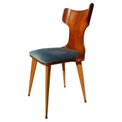 Compensated Curved Chair Attributed to Carlo Ratti, 1950s