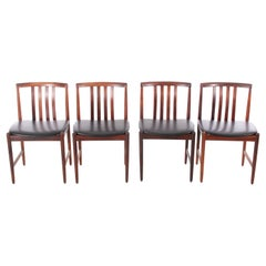 Mid-Century Modern Set of 4 Dining Chairs in Rosewood by Westnofa