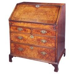 Early 18th Century Burr Ash Veneered Bureau