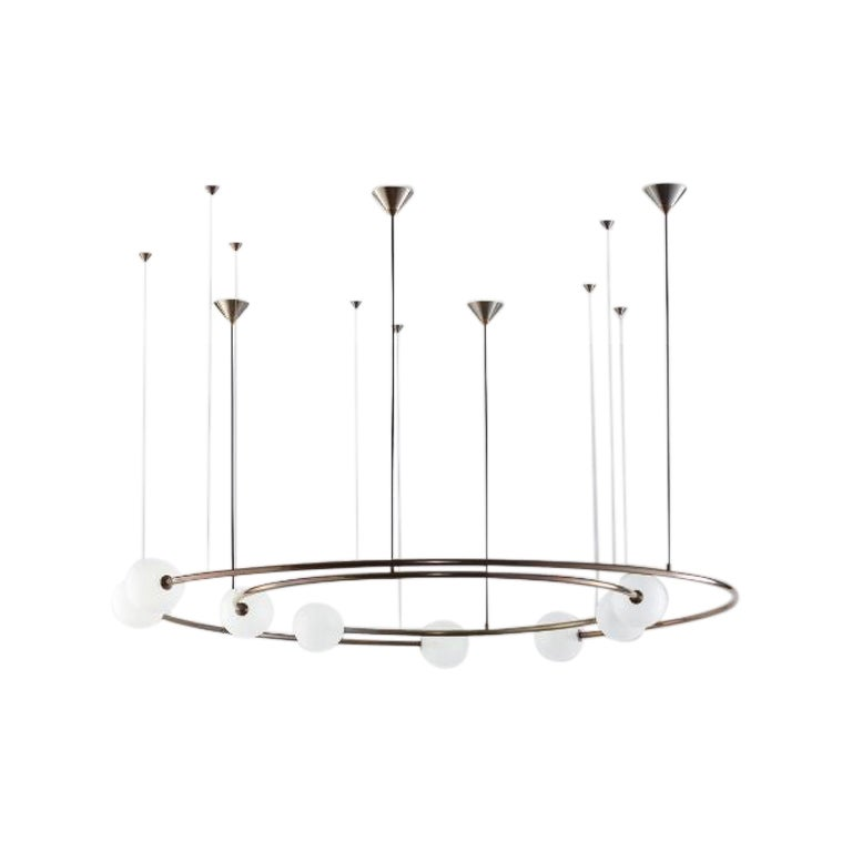Dual Ring Oddments Chandelier by Volker Haug
