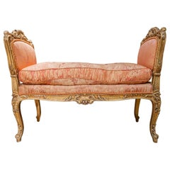 Fine 19th Century French Regence Gilt Carved Bench
