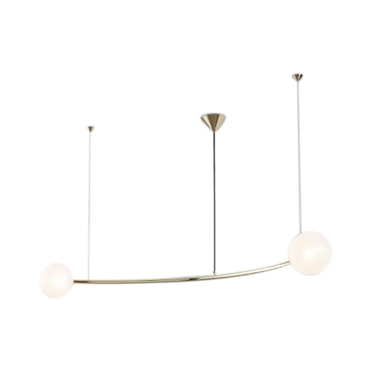 Single Arc Oddments Chandelier by Volker Haug For Sale