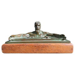 """""""Poseidon Calming the Sea,"""" Sculpture w/ Swimmers by Joe Brown Awarded by AAU"""