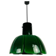 Green Hanging Lamp by Peill & Putzler, 1970s, Germany