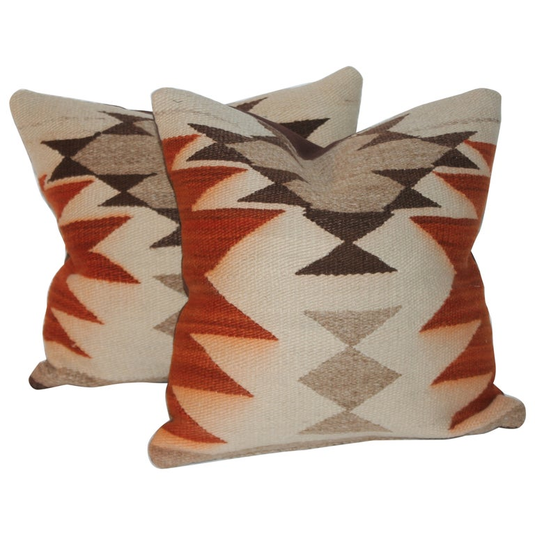 Geometric Navajo Indian Weaving Pillows For Sale