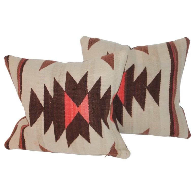 Pair of Navajo Weaving Pillows, Pair For Sale