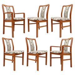 Set of Six Danish Teak Upholstered Dining Chairs by Boltinge