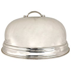 Large Silver Food Dome