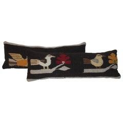 Mexican / Indian Bird Weaving Pillows, 2