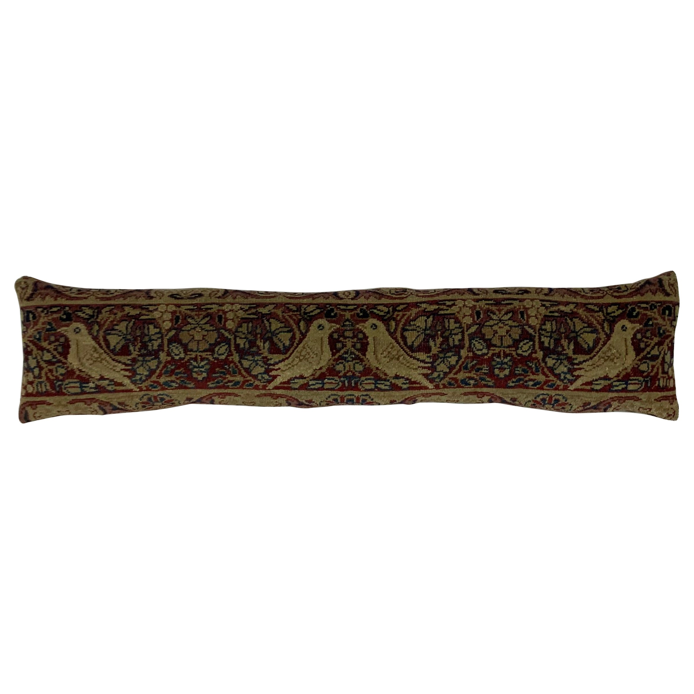 Antique Hand Woven Pictorial Hand Woven Pillow
