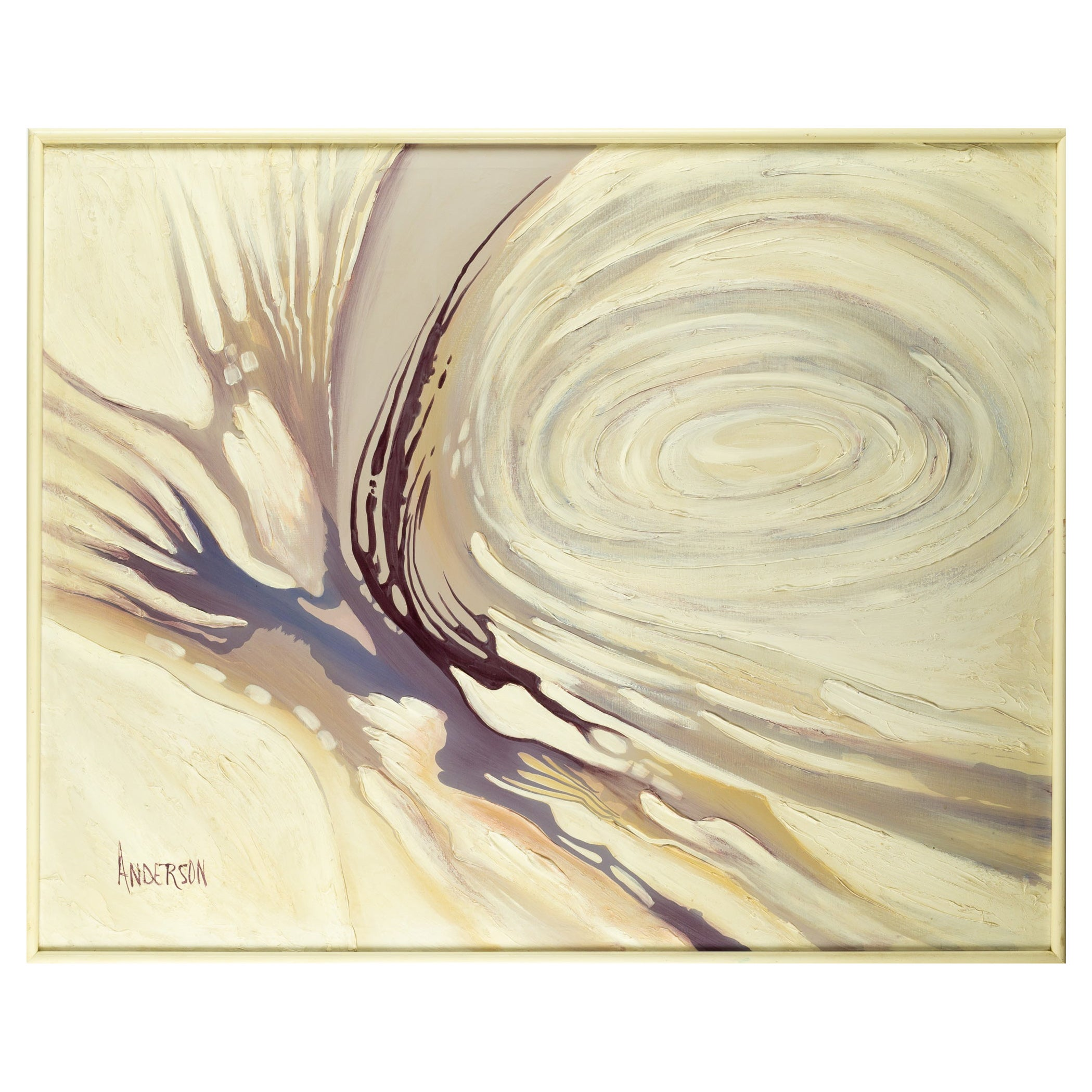 Mid Century Abstract Oil on Canvas Painting by Anderson