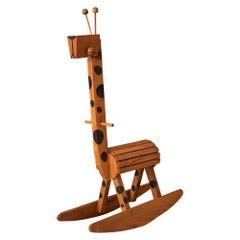 Mid-Century Modern Giraffe Rocker Toy Chair