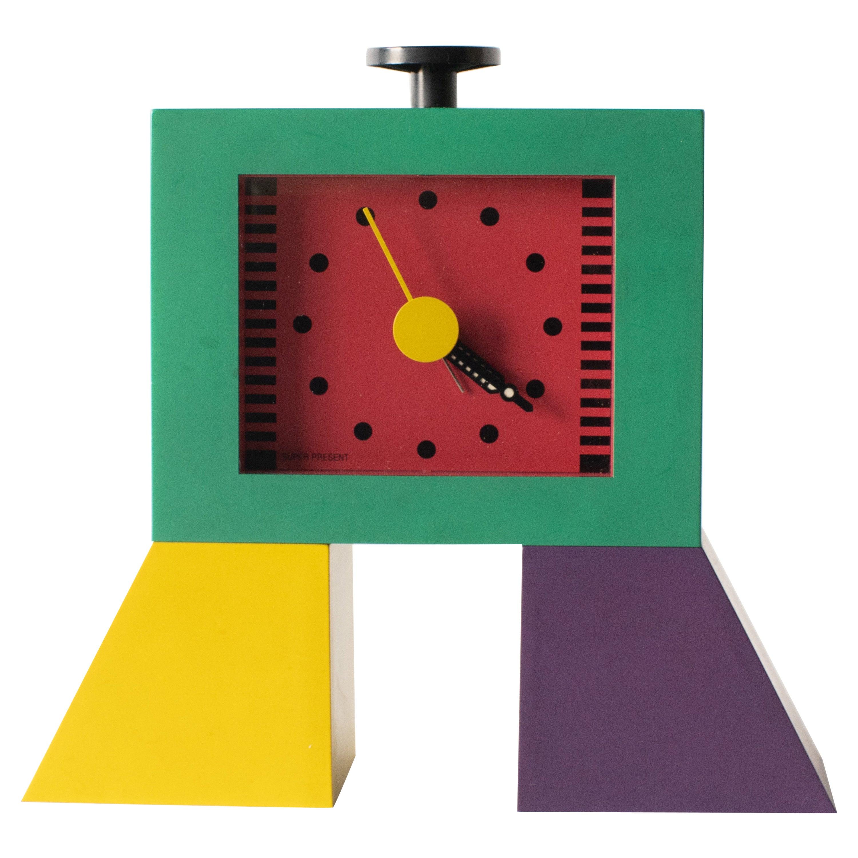 Table Clock Shohei Mihara Wakita Superpresent Postmodern, 1980s