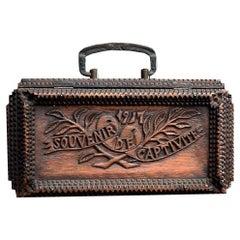 Early 20th Century German POW Love Token Tramp Box