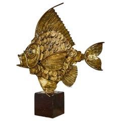 "Vintage ""Fish"" Lamp, France, 1970s"