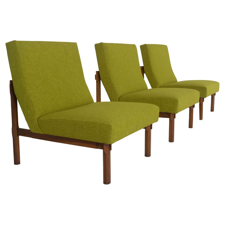 Three Italian Modern Ico Parisi Chairs in Walnut Model 869, 1960s For Sale