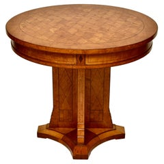 19th Century Russian Birch and Root Parquetry Gueridon Center Table