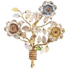 Sconce with Glass Flowers by Oswald Haerdtl for J. & L. Lobmeyr