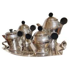Art Deco 5 Piece Coffee and Tea Silver Plate Set