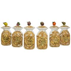 Set of Six Apothecary Jars in Glass