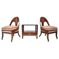 Michael Taylor for Baker Spoon Chairs