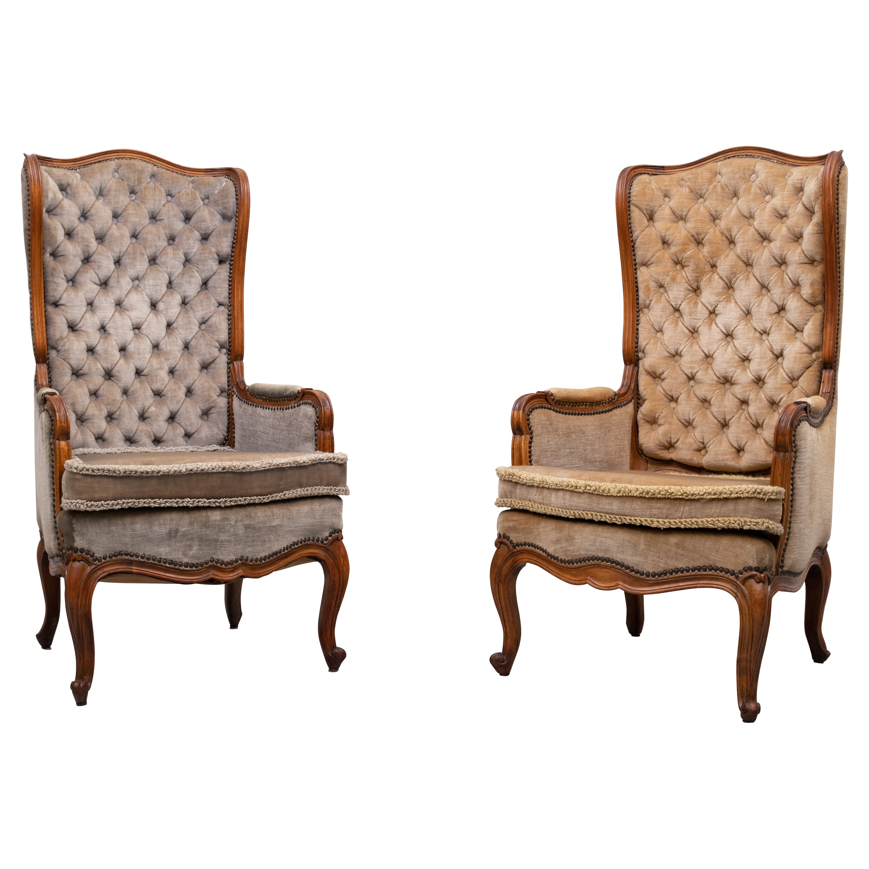 Small Louis XV Padded Armchairs