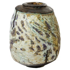 Ceramic Vase by Georges Sybesma to La Borne, France, circa 2010
