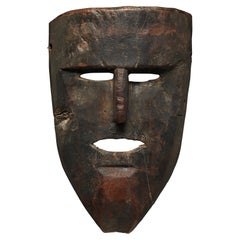 Very Old Nepal Dance Mask Middle Hills, Early 20th Century